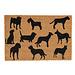 Clayre en Eef Kokos deurmat  Dogs 60 x 40 cm
