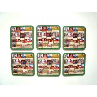 Home & Deco Onderzetters aap, noot, Mies, 6 stuks