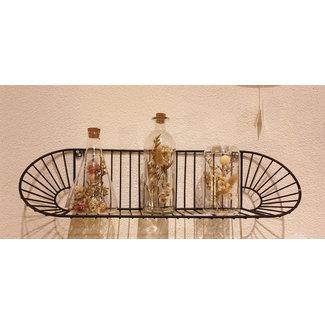 Home & Deco Set van die glaasjes met droogbloemen
