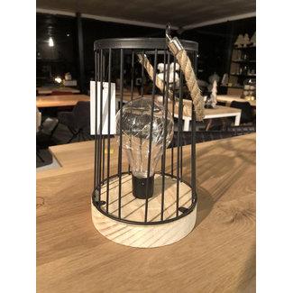 Decoratieve tafel ledlamp zwart ijzerdraad model