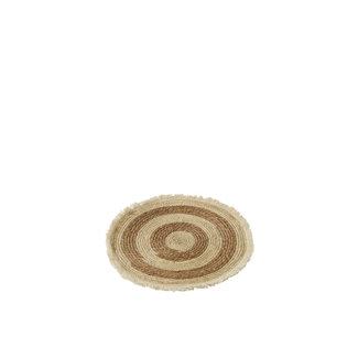 Placemat naturel rotan/bamboe met kwastjes