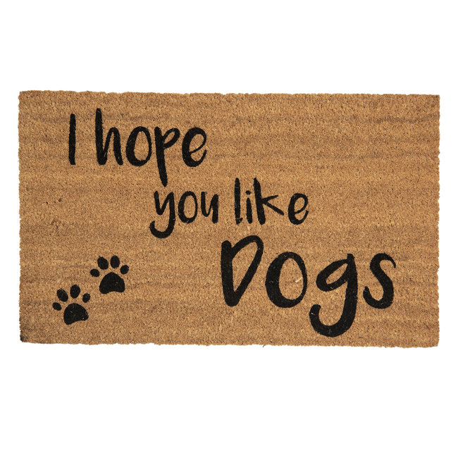Clayre en Eef Kokos deurmat I hope you like Dogs 75 x 45 cm