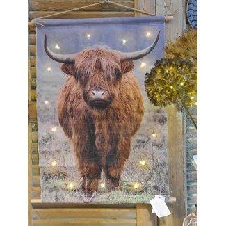 Home & deco Schotse Hooglander op canvas - 100x135 cm