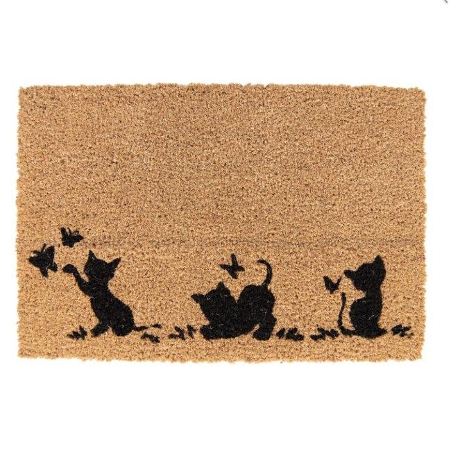 Clayre & Eef Deurmat spelende kat