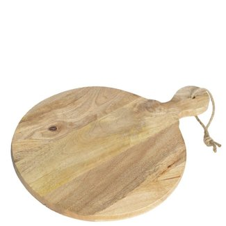 Varios Tapasplank mangohout rond 40x50 cm