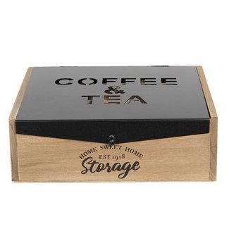 Clayre & Eef 9-vaks koffie & theedoos