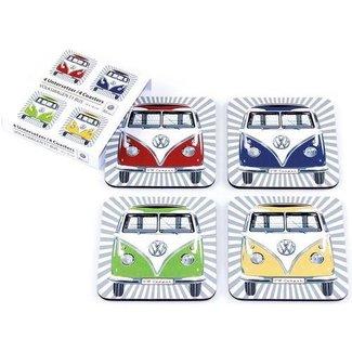 Nostalgic Art Merchandising Onderzetters Volkswagen T1 bus - set 4 stuks