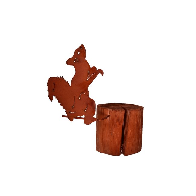 Home & Deco Schroef eekhoorn op stok roest