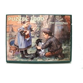 Home & Deco Puzzel Ot en Sien wat denkt poes - 1000 stukjes
