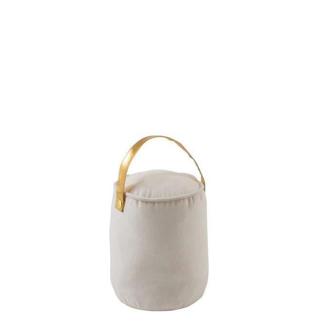 J-Line Deurstop met hendel wit/goud