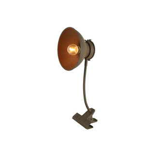 Home & Deco Klemlamp roest met LED timer