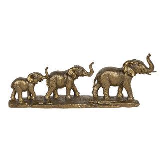 Clayre & Eef Beeldje olifantenmars goud