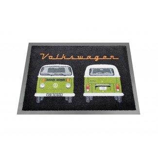 Nostalgic Art Merchandising VW T2 deurmat zwart/groen