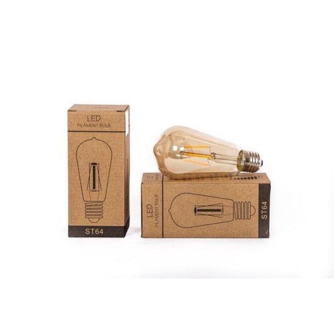 Home & Deco Gouden LED lamp  van glas - ST 64 - 6,5 x 15 cm