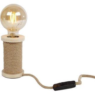 Home & Deco Tafellamp stoel met touw