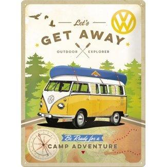 Nostalgic Art Merchandising Wandbord Volkswagen T1 Get Away