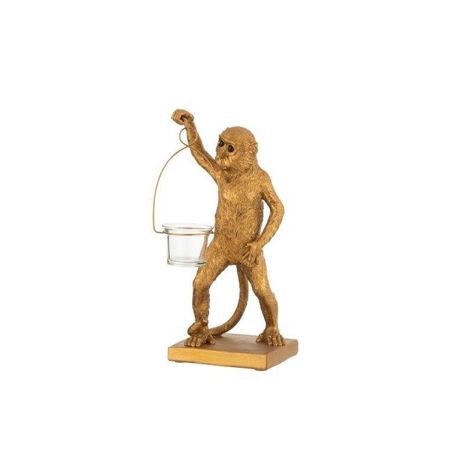 Home & Deco Waxinelichthouder Aap goud