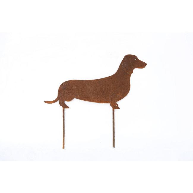Home & Deco Tuinsteker Hond Teckel ecoroest