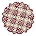 Clayre & Eef Keramieken pannenonderzetter  20 cm  rood wit