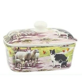 William Morris Botervloot keramiek Collie en schapen