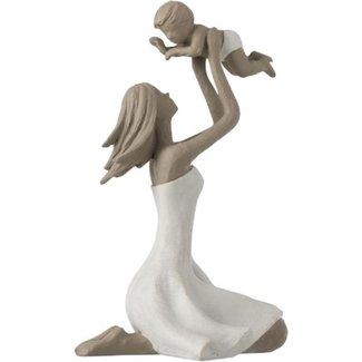 J-Line Moeder met kind op de knieën