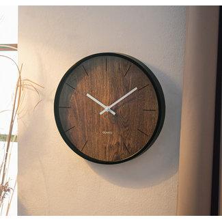 Home & Deco Wandklok met houtlook - 30 cm