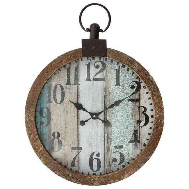 Home & Deco Vintage houten klok Maria - 55 cm