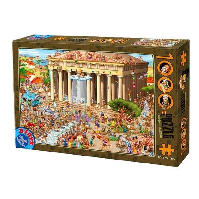 DToys Legpuzzel Cartoon  Akropolis 1000 stukjes