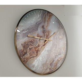 Thomas Kent Wandklok Oyster 55 X 5 Cm Staal Amber/goud