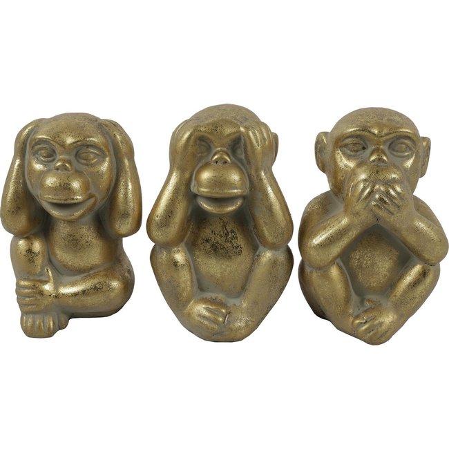 Countryfield Set van 3 aapjes horen, zien en zwijgen