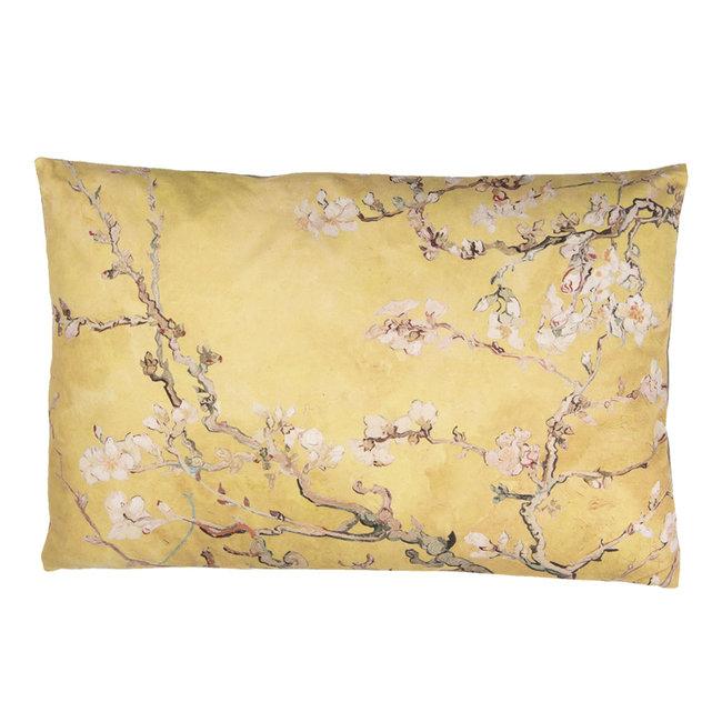 Clayre & Eef Sierkussen bloesemtak Van Gogh style geel