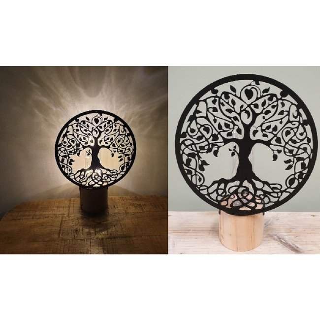 Home & Deco Decoratieve tafel ledlamp levensboom Tree of Life