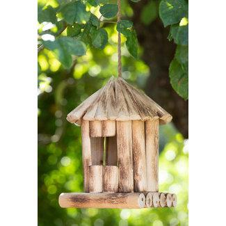 Home & deco Vogelhuisje vogelnestje Rond Populier Hout