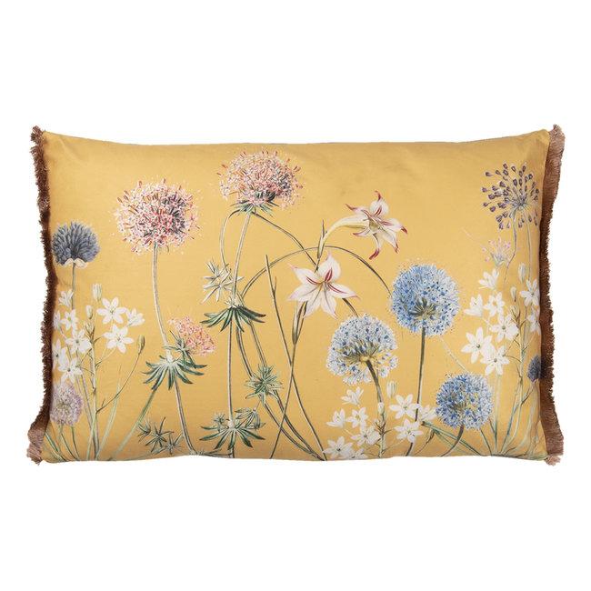 Clayre & Eef  Clayre & Eef Sierkussen bloem geel 60x40cm