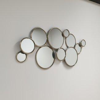 Home & Deco Multi spiegel-circel spiegel bubble spiegel messing