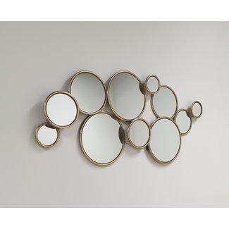 Home & Deco Multi spiegel-circel spiegel bubble spiegel  - goud