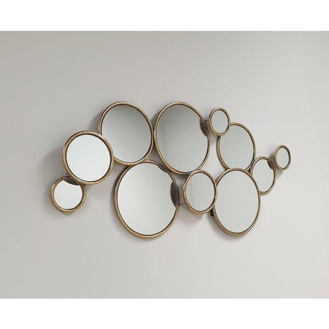 Home & Deco Multi spiegel-cirkel spiegel bubble spiegel  - goud