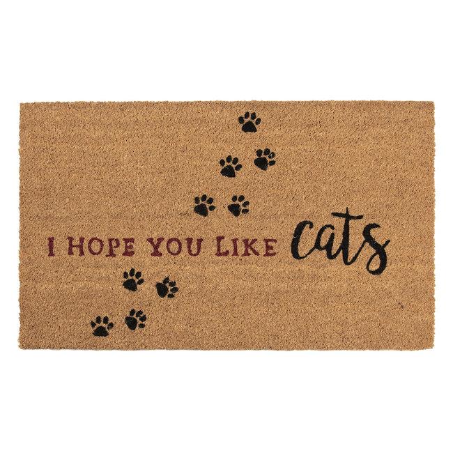 Clayre en Eef Kokos deurmat I hope you like Cats 75 x 45 cm