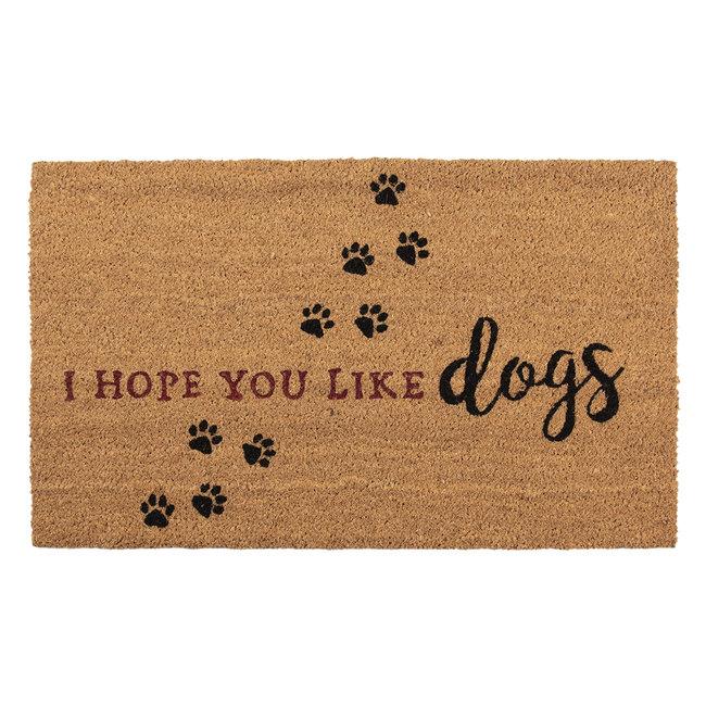 Clayre en Eef Kokos deurmat I hope you like Dogs