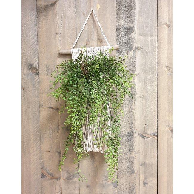 Home & Deco Macramé decoratie - plantenhanger  35xH50cm