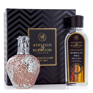 Asleigh & Burwood Geurlamp Giftset Apricot Shimmer + extra flesje olie