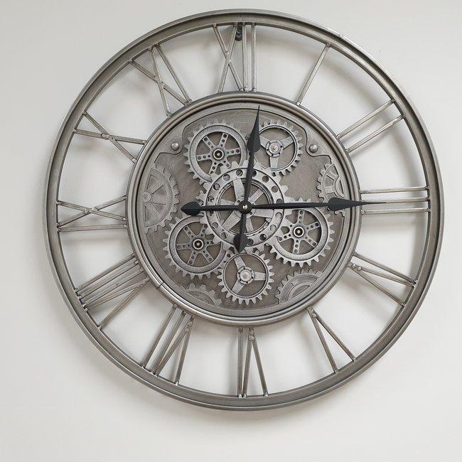 Home & Deco Radarklok-tandwiel klok saturn metaal 60cm
