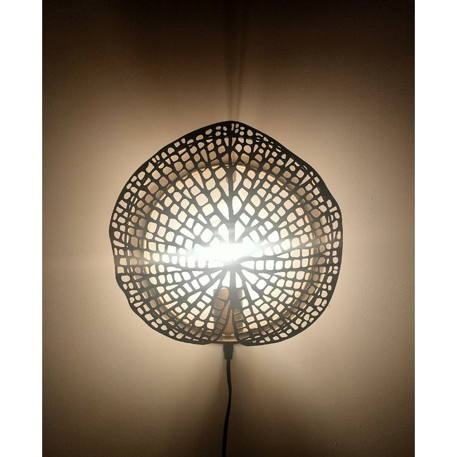 Countryfield Muurlamp Akka goud 30 cm