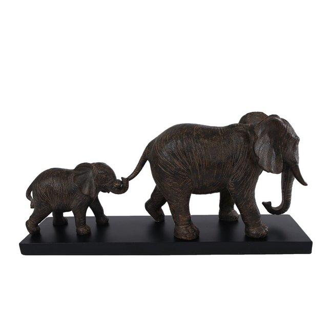 Home&Deco Beeld olifanten bruin