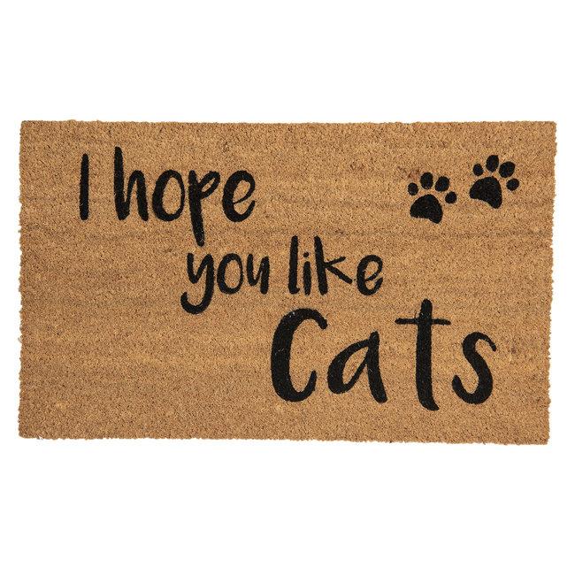 Clayre en Eef Kokos deurmat I hope you like Cats