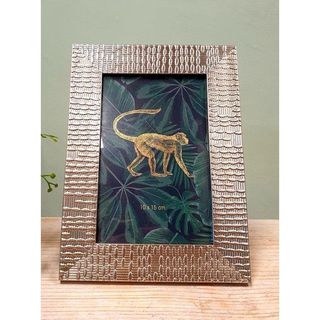 Home & Deco 2x Fotolijst Jungle goud - 10 x 15 cm