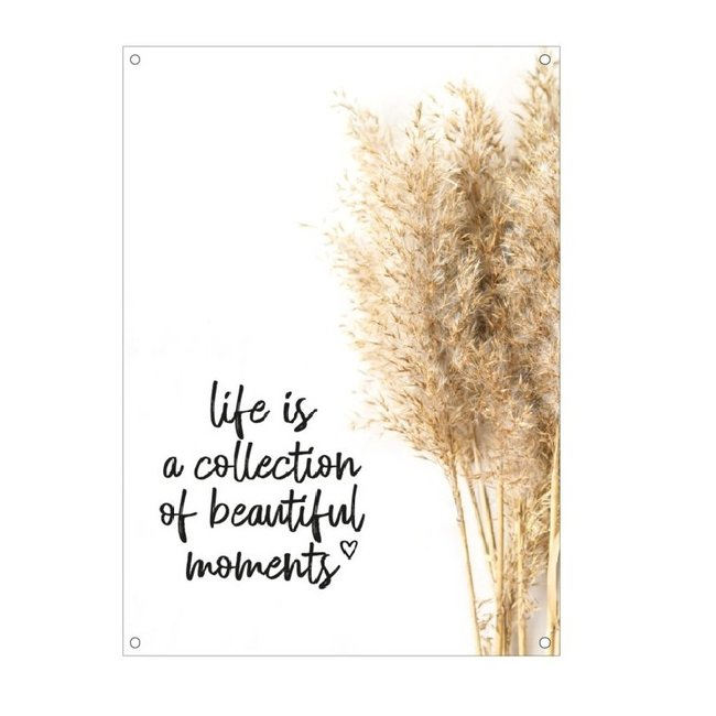 By Romi Tuinposter balkonposter  Life is a 70x50cm