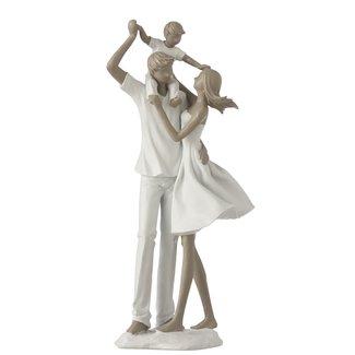 J-Line Beeldje vader moeder spelend met kind