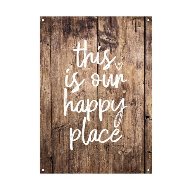 By Romi Tuinposter balkonposter This is our happy place 70x50cm