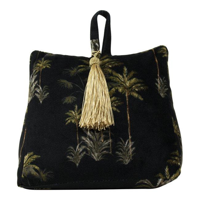 Bali-Dreams Deurstopper Fluweel Palmboom Zwart